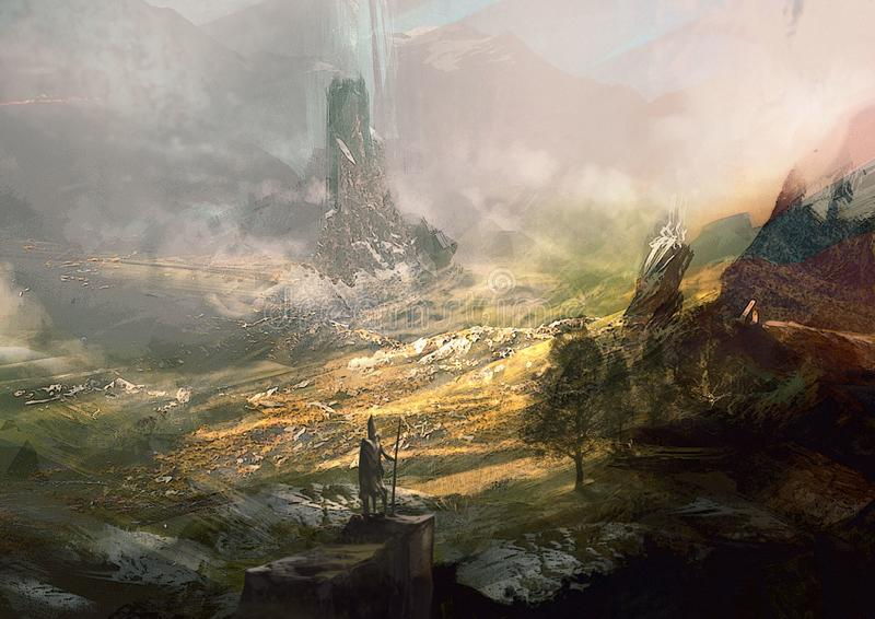 La fantasia del paesaggio royalty illustrazione gratis