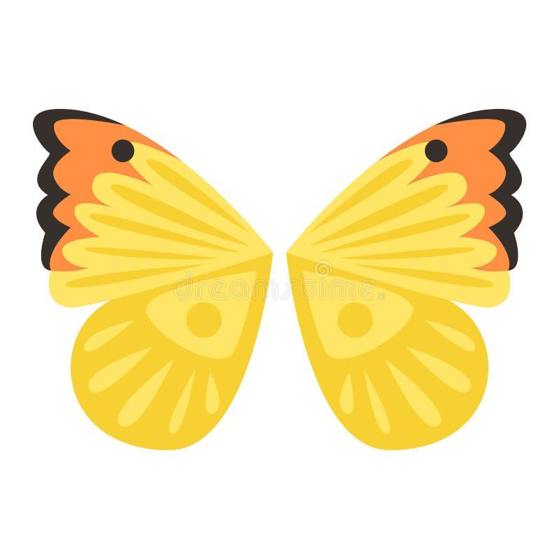La farfalla traversa l'illustrazione volando di vettore illustrazione vettoriale
