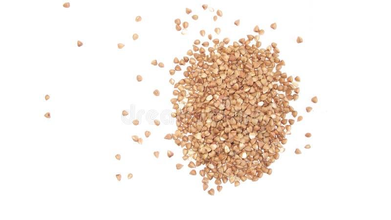 La farina di grano saraceno. immagine stock