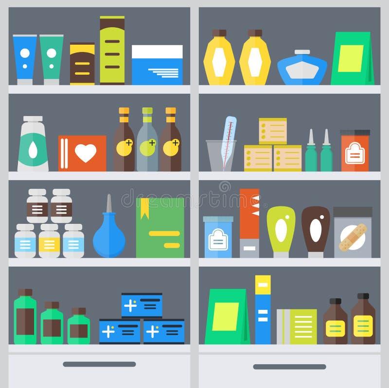 La farmacia accantona il fondo Vettore royalty illustrazione gratis