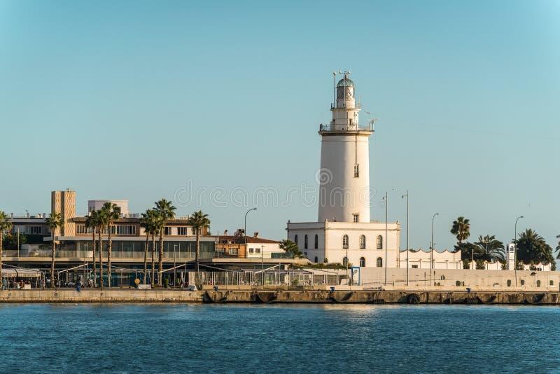 La Farola De Malaga de phare à Malaga, Espagne image stock