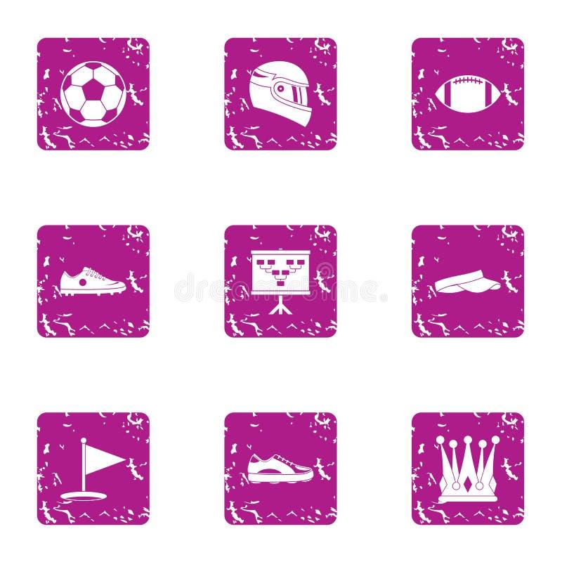 La fascinación de los iconos de los hombres fijó, estilo del grunge stock de ilustración