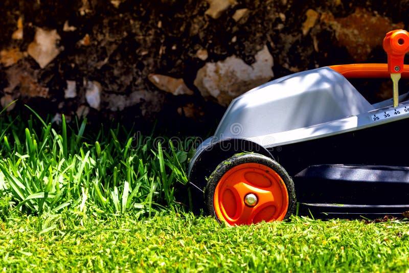 La faucheuse sur une herbe photos libres de droits