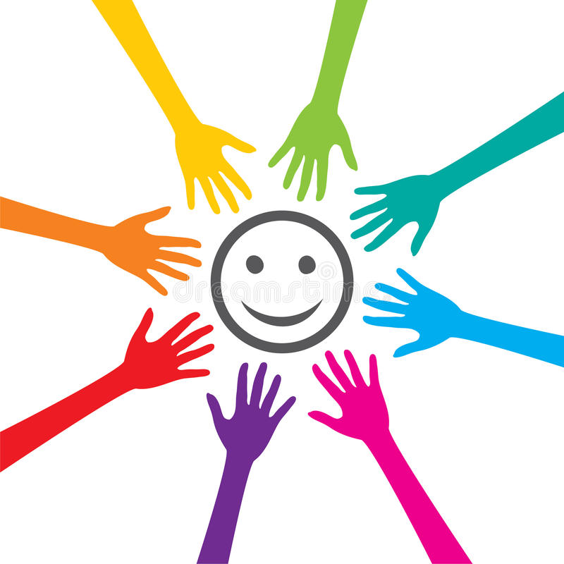 La felicidad es dominante al éxito ilustración del vector