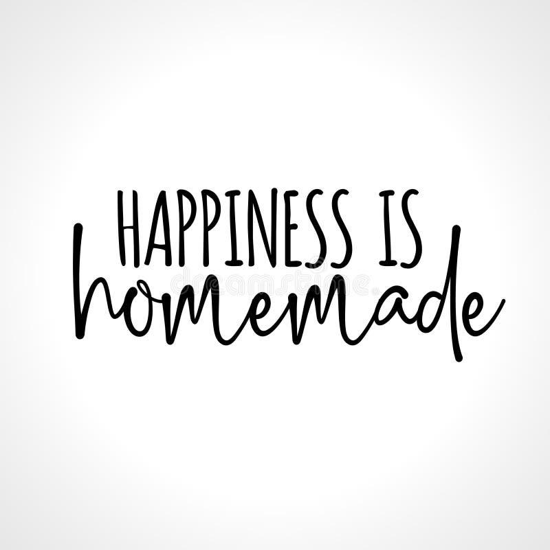 La felicidad es hecha en casa stock de ilustración