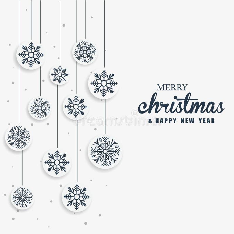 La Feliz Navidad y la celebración de la Feliz Año Nuevo diseñan ilustración del vector
