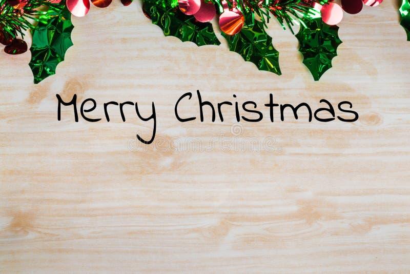 La Feliz Navidad y la celebración de la Feliz Año Nuevo diseñan con los copys imagen de archivo libre de regalías