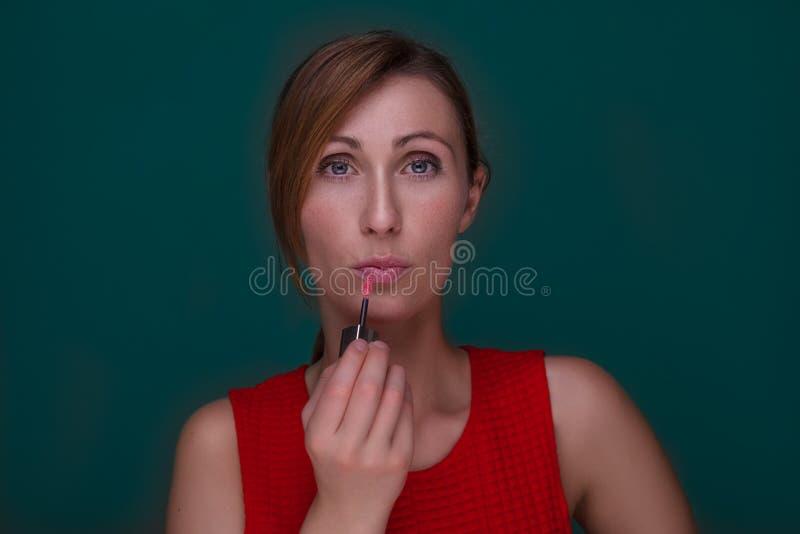 La femelle composent image stock
