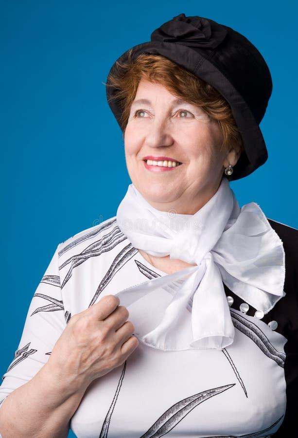 La femme âgée gaie. image libre de droits