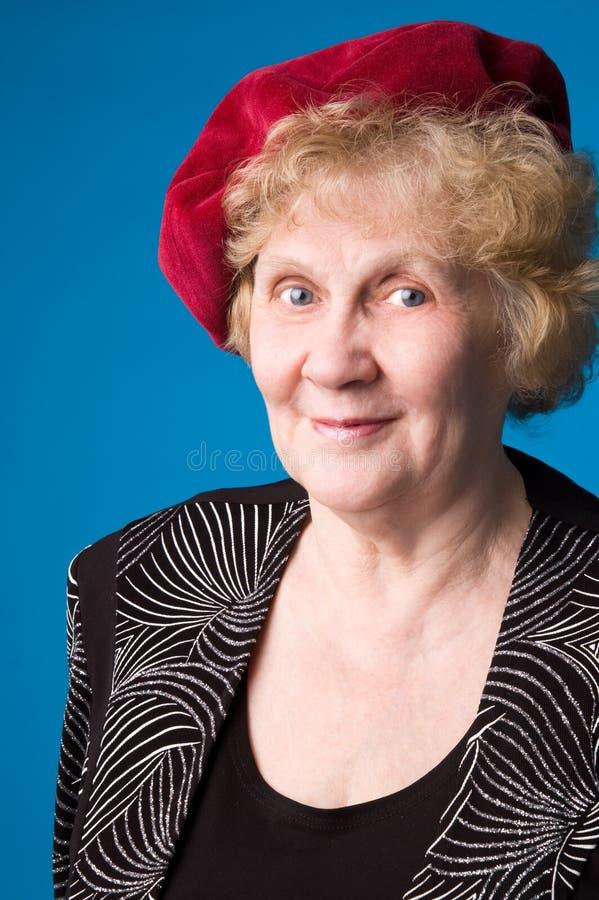 La femme âgée gaie. photographie stock