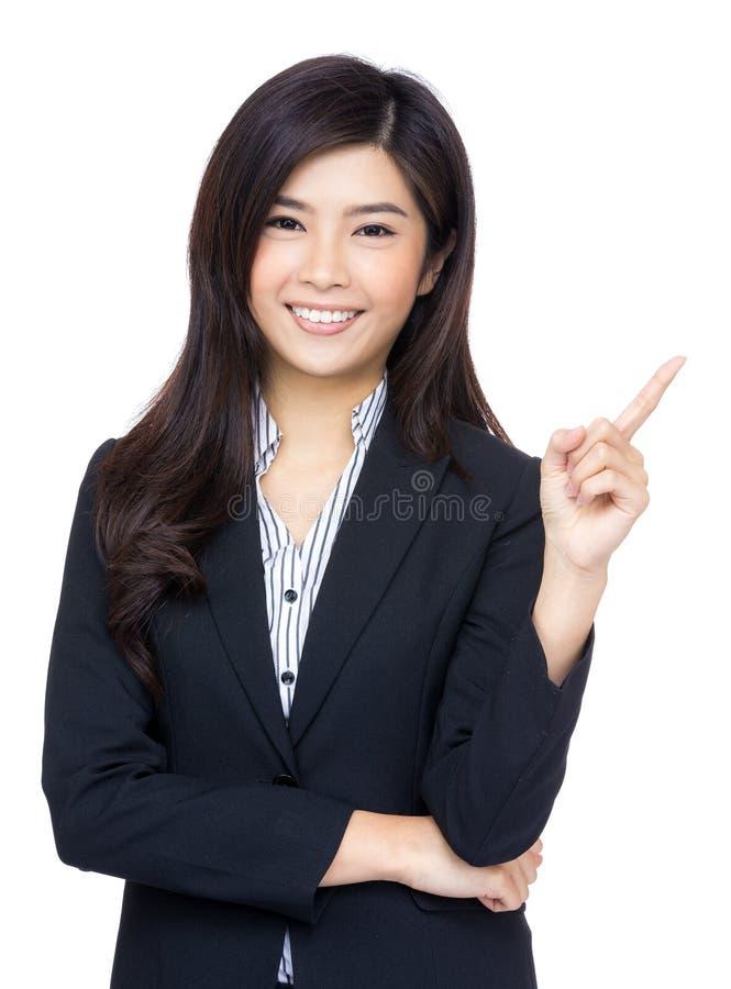 La femme asiatique d'affaires ont l'idée image stock