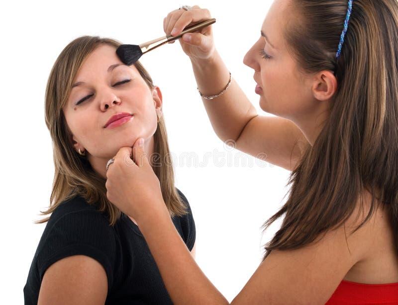 la femme avec le bâton photo stock
