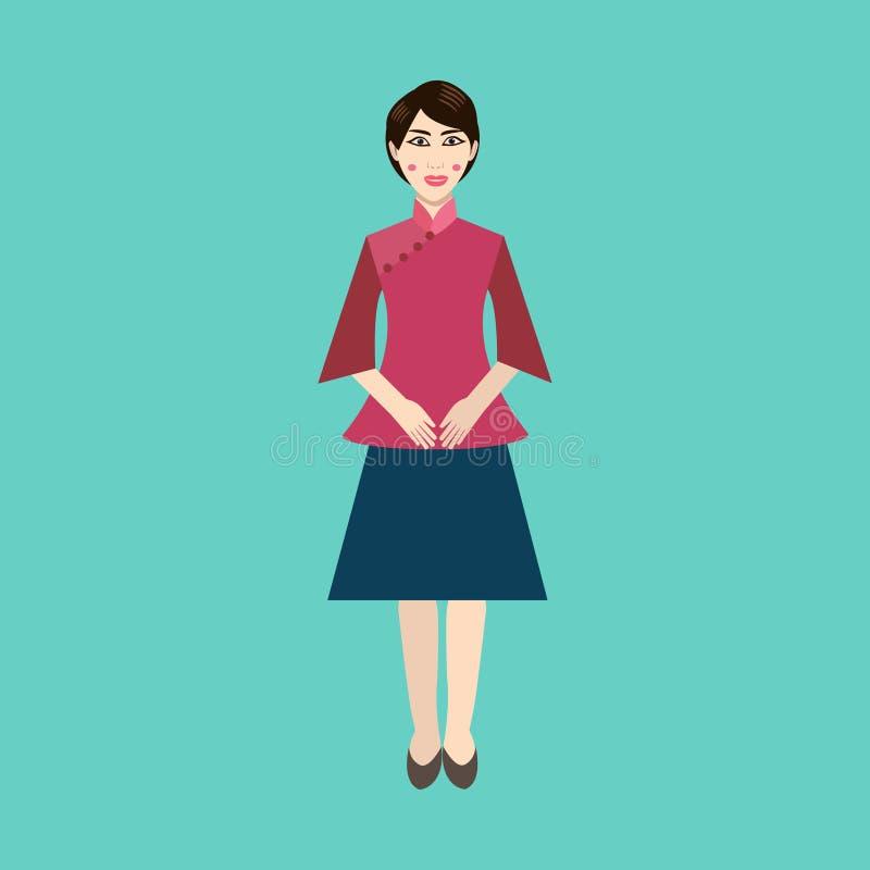 Download La Femme Chinoise Dans Le Ressortissant Vêtx L'icône Plate Illustration de Vecteur - Illustration du caractère, course: 77150194