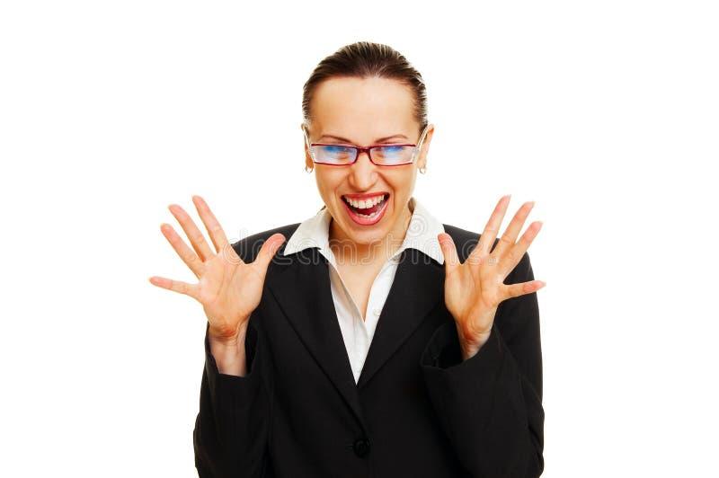 la femme d'affaires a étonné photographie stock libre de droits