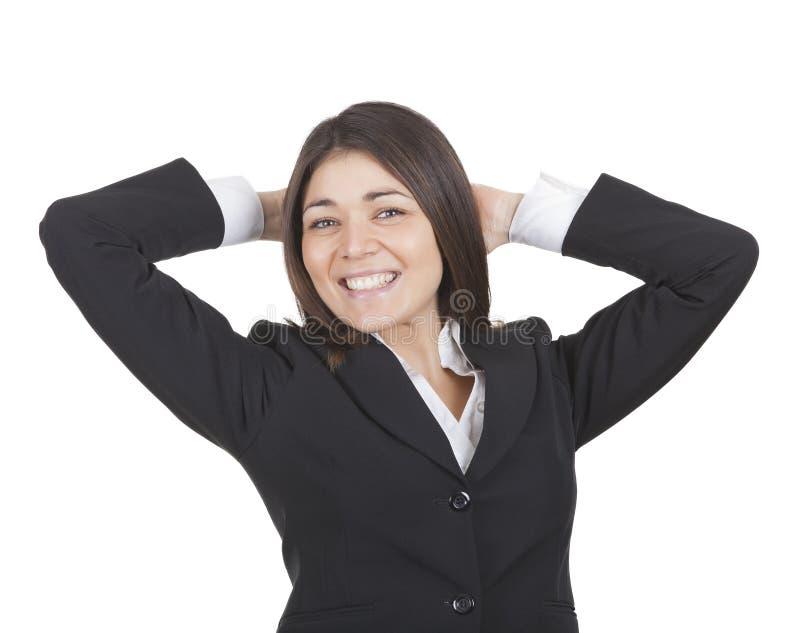 La femme d'affaires détend photos libres de droits