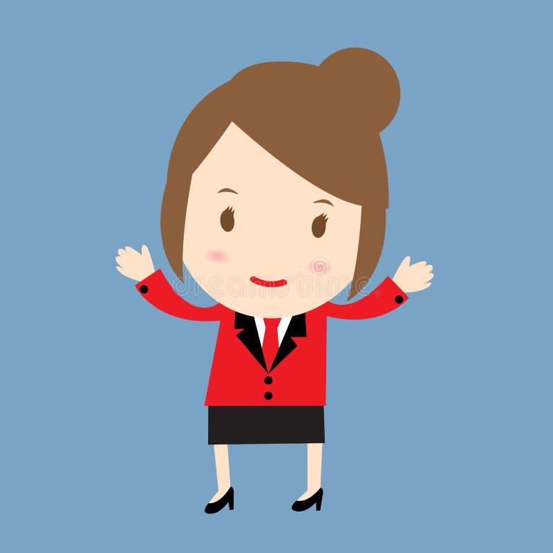 La femme d'affaires Happy font face à la femme d'affaires illustration stock