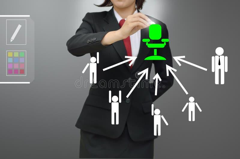 La femme d'affaires (heure) a sélectionné le talent de personne illustration stock