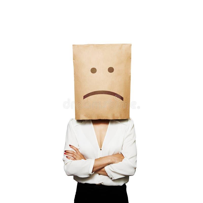La femme d'affaires ont une mauvaise humeur photos stock