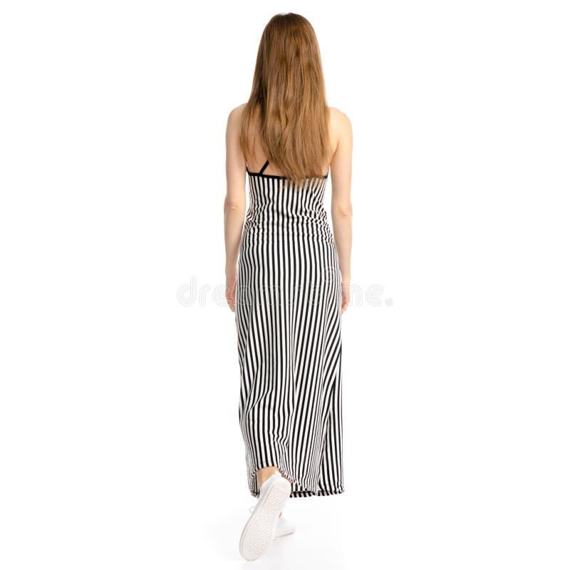 La femme dans la robe va photos libres de droits