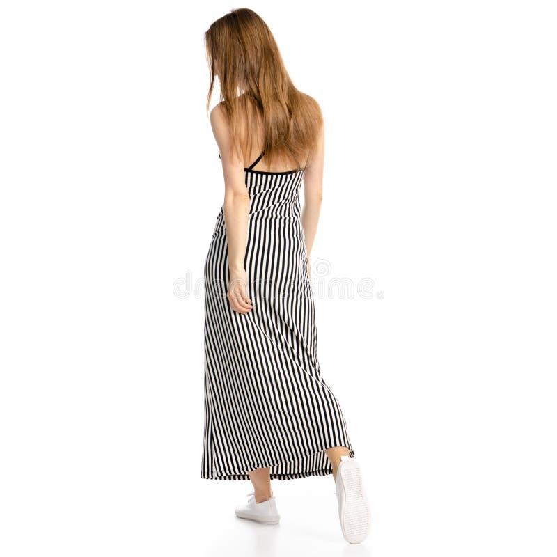 La femme dans la robe va photo stock