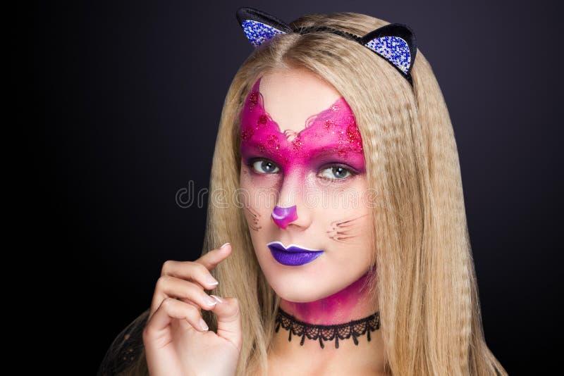 La femme de chat composent image libre de droits