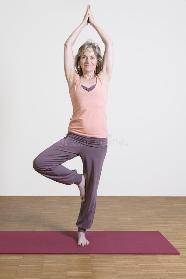 La femme exerce le yoga photos libres de droits