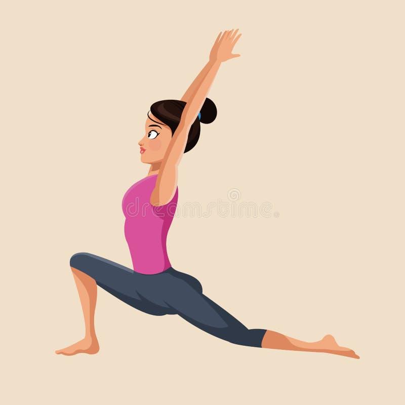 La femme font l'image d'exercice de yoga illustration libre de droits