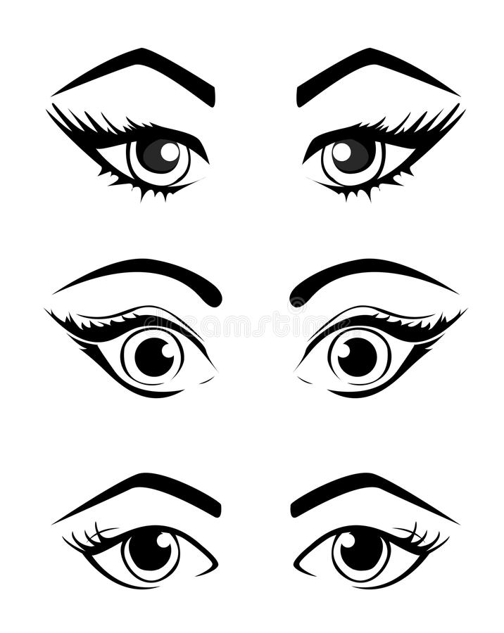 La femme observe la collection, illustration d'illustration de vecteur d'isolement sur le blanc illustration de vecteur