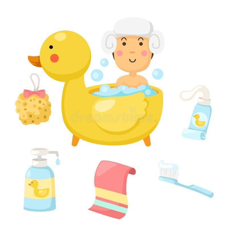 La Femme Prend Une Douche Illustration De Vecteur