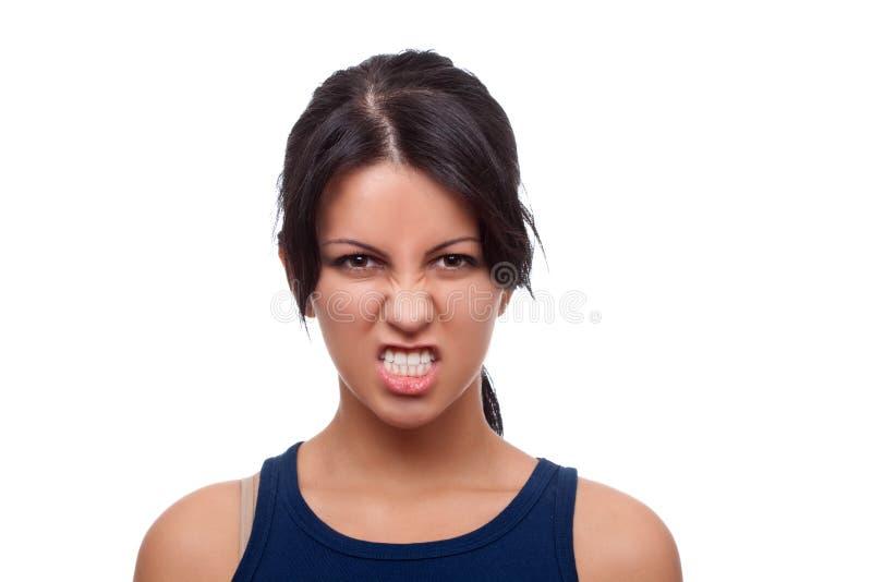 La femme regarde très fâchée images libres de droits