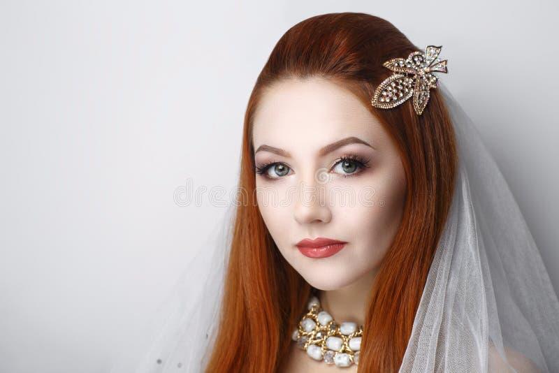 La femme se préparent à épouser photographie stock libre de droits