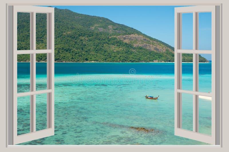 La fen tre ouverte avec des vues de mer phuket la for Une fenetre ouverte
