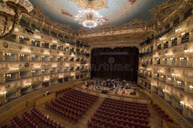 La Fenice de Gran Teatro fotos de archivo
