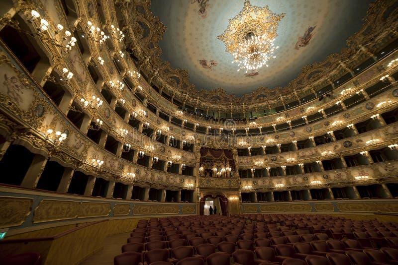 La Fenice de Gran Teatro foto de archivo libre de regalías