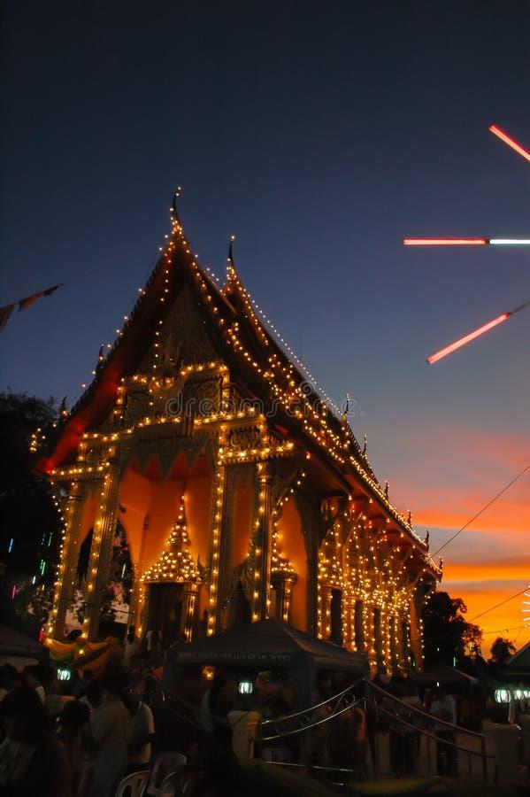 La feria del templo es una tradición anual fotos de archivo libres de regalías