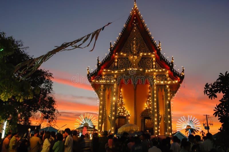 La feria del templo es una tradición anual foto de archivo libre de regalías