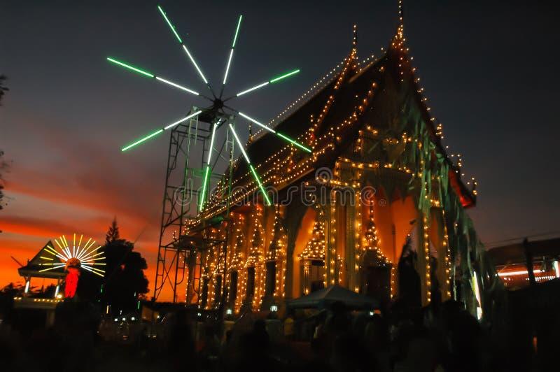 La feria del templo es una tradición anual fotografía de archivo libre de regalías