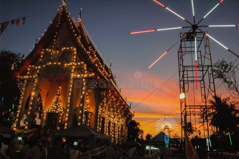 La feria del templo es una tradición anual imagen de archivo libre de regalías