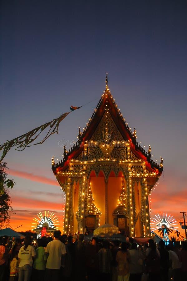 La feria del templo es una tradición anual fotografía de archivo