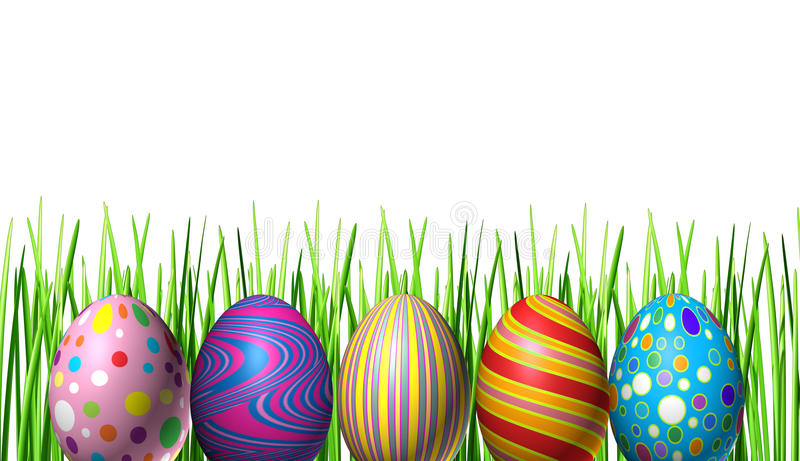 La festa di Pasqua Eggs la decorazione illustrazione di stock
