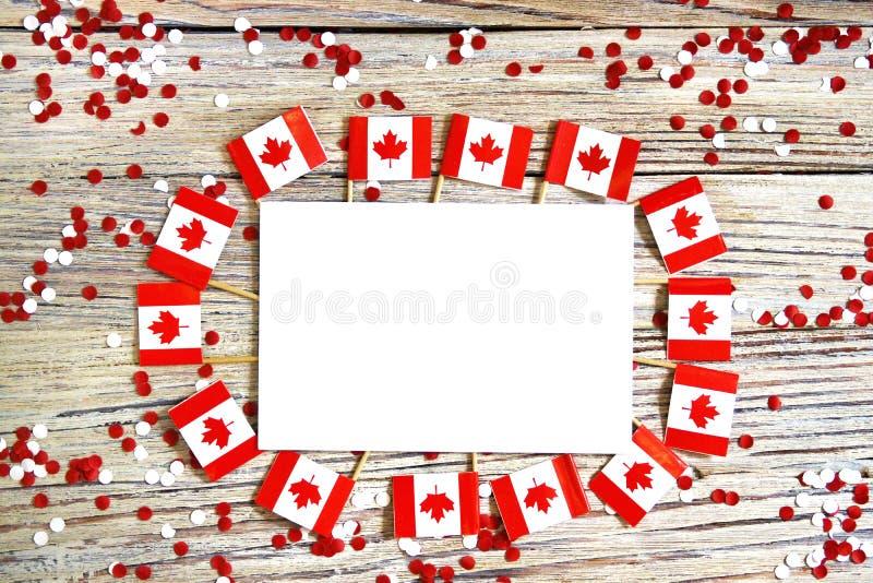 La festa nazionale del 1? luglio - giorno felice del Canada, giorno di dominio, il concetto di patriottismo, indipendenza e memor fotografia stock libera da diritti