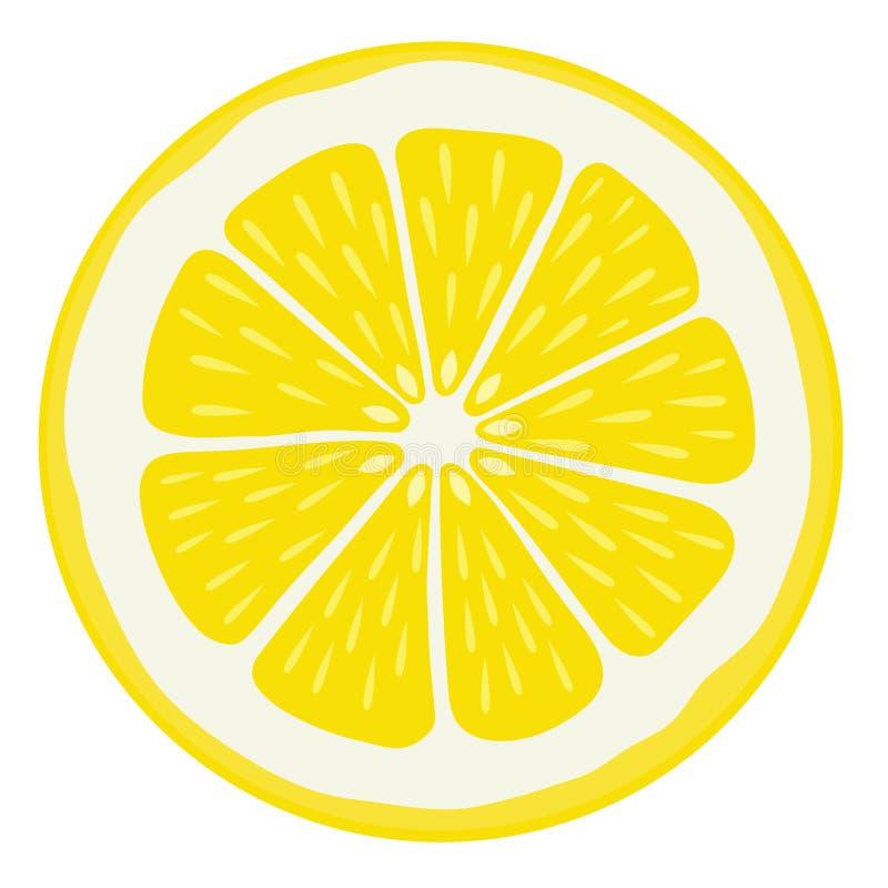 La fetta del limone ha isolato illustrazione vettoriale