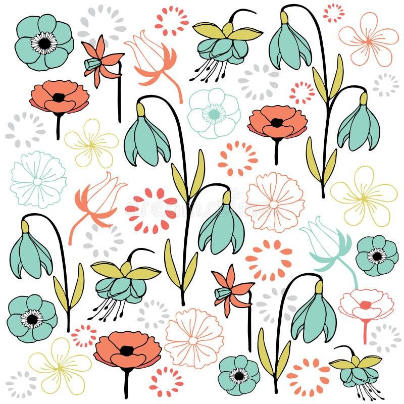 Download La Feuille Et La Fleur Ont Placé La Couleur 4 En Pastel Illustration Stock - Illustration du mode, papier: 56481512