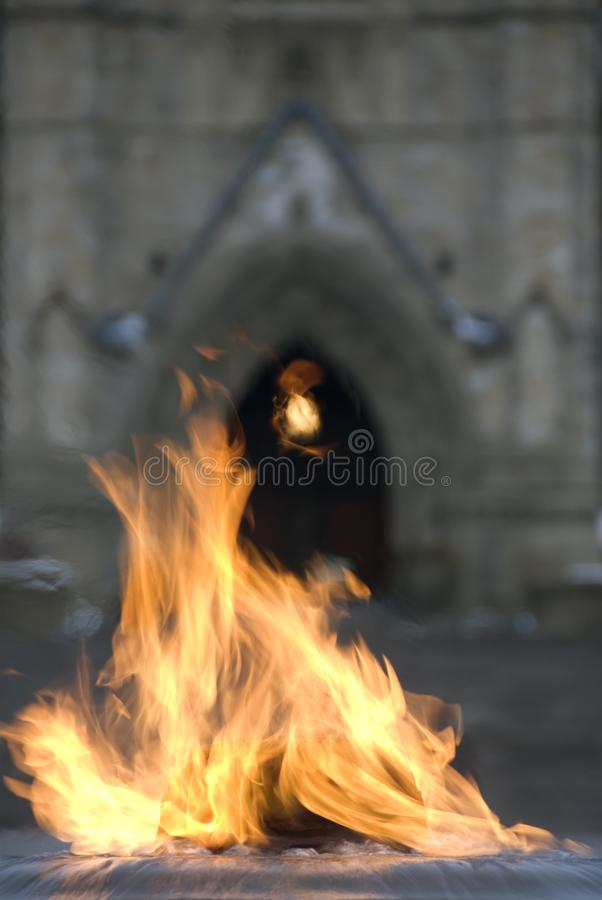 La fiamma centennale del Canada fotografia stock libera da diritti