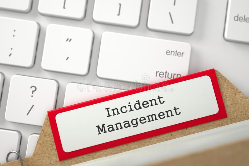 La fiche avec la gestion d'incident rendu 3d illustration de vecteur