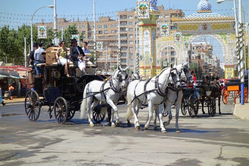 La fiera di aprile di Siviglia fotografia stock libera da diritti