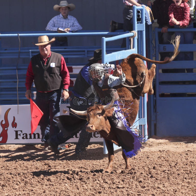 A La Fiesta De Los Vaqueros Junior Rodeo Editorial Stock