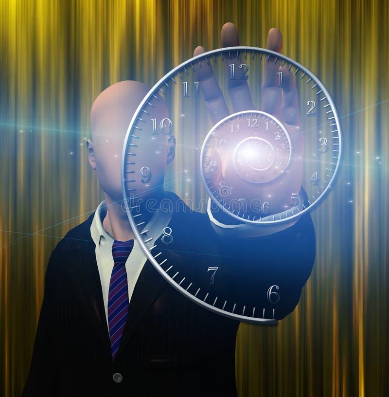 La figura anónima irradia la luz de la mano ilustración del vector