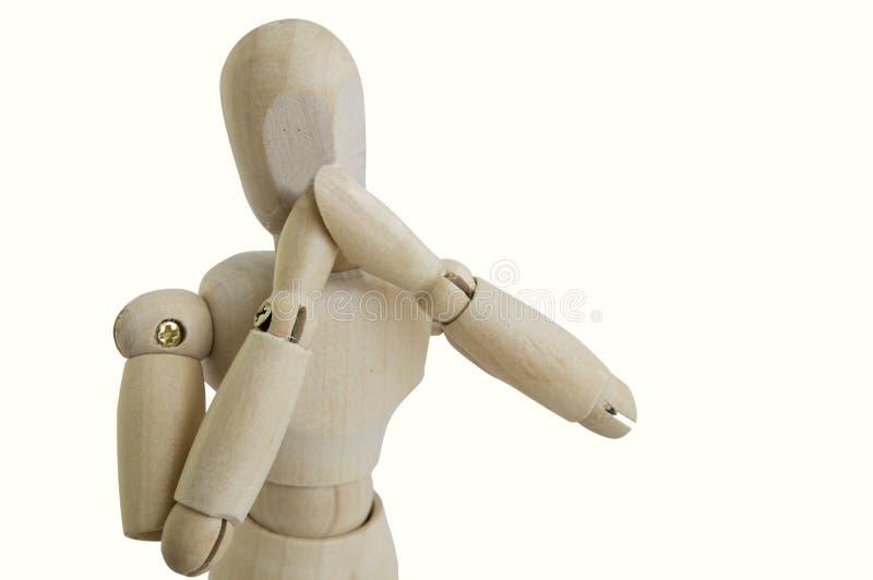 La figura de madera concepto ningún habla gesto fotografía de archivo libre de regalías