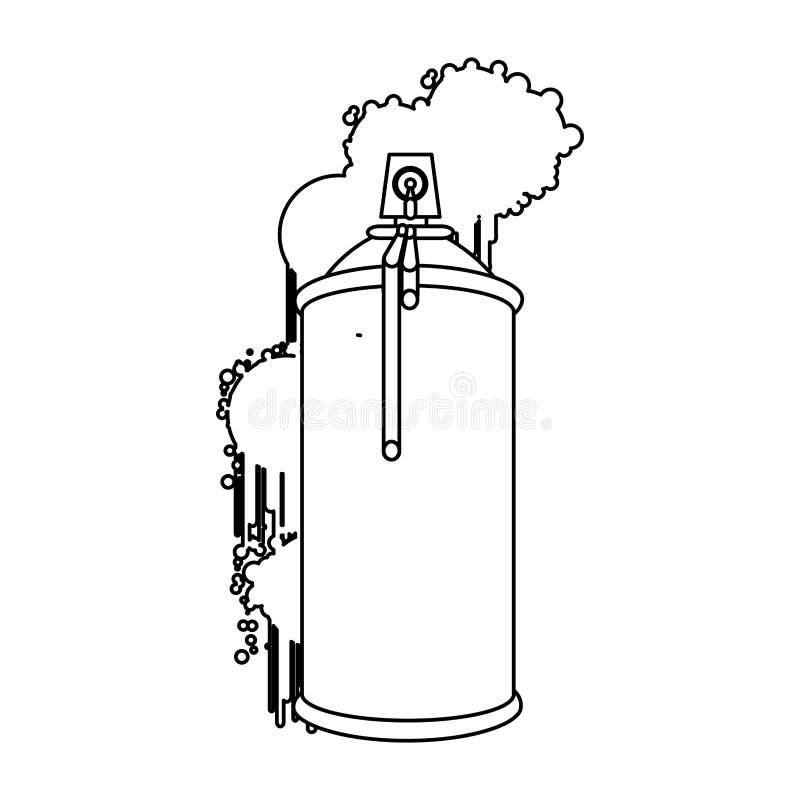 la figura puede icono de los esprayes de aerosol libre illustration